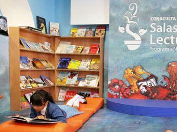 Sala de leitura. Foto: Divulgação do Programa Nacional de Salas de Leitura (PNSL) da Conaculta, México.